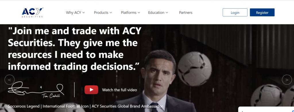 ACY securities web