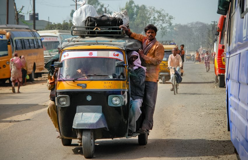 rickshaw, india